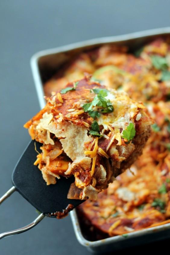 Healthy Casseroles: Layered BBQ Chicken