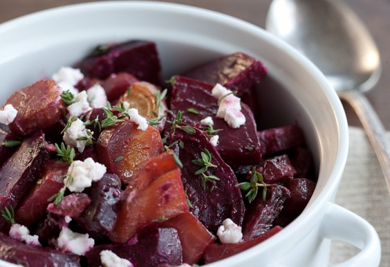 46. Roasted Beets and Goat Cheese