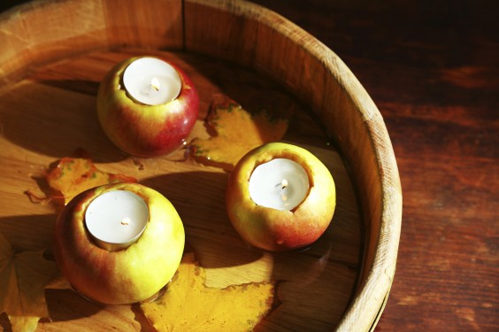 55 Creative Uses for Leftover Apples: Apple Candles