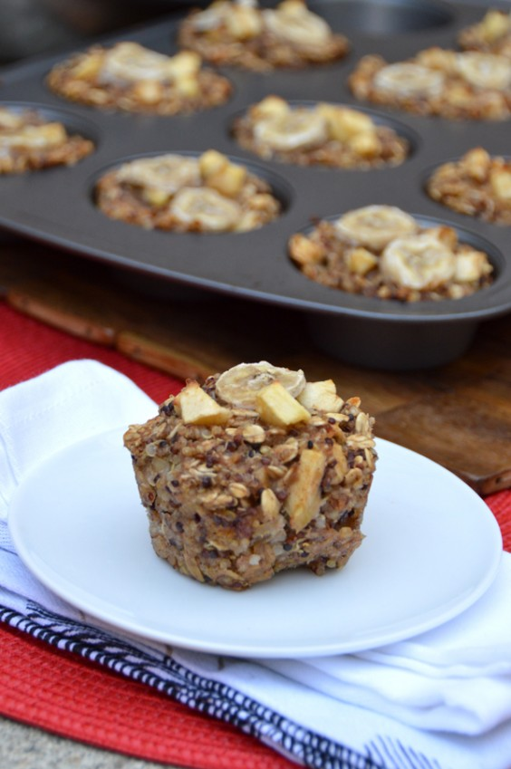 Quinoa Breakfast Bake: Apple and Banana Cups
