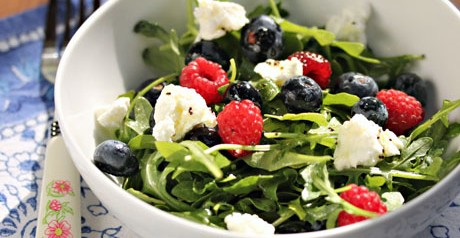 Arugula, Berry, and Goat Cheese Salad