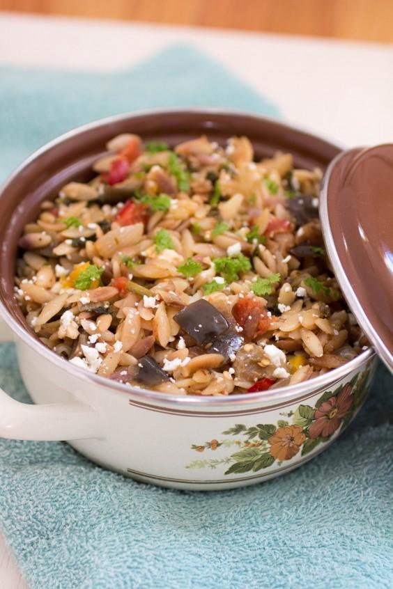 Healthy Casseroles: Ratatouille Orzo