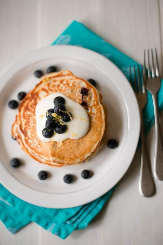 Protein Pancakes: Lemon Blueberry