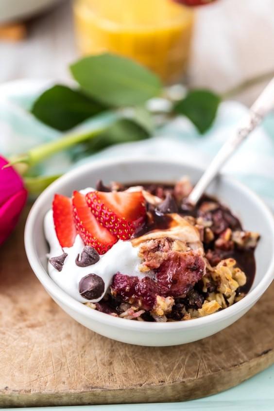 Valentine Breakfast: Baked Oatmeal