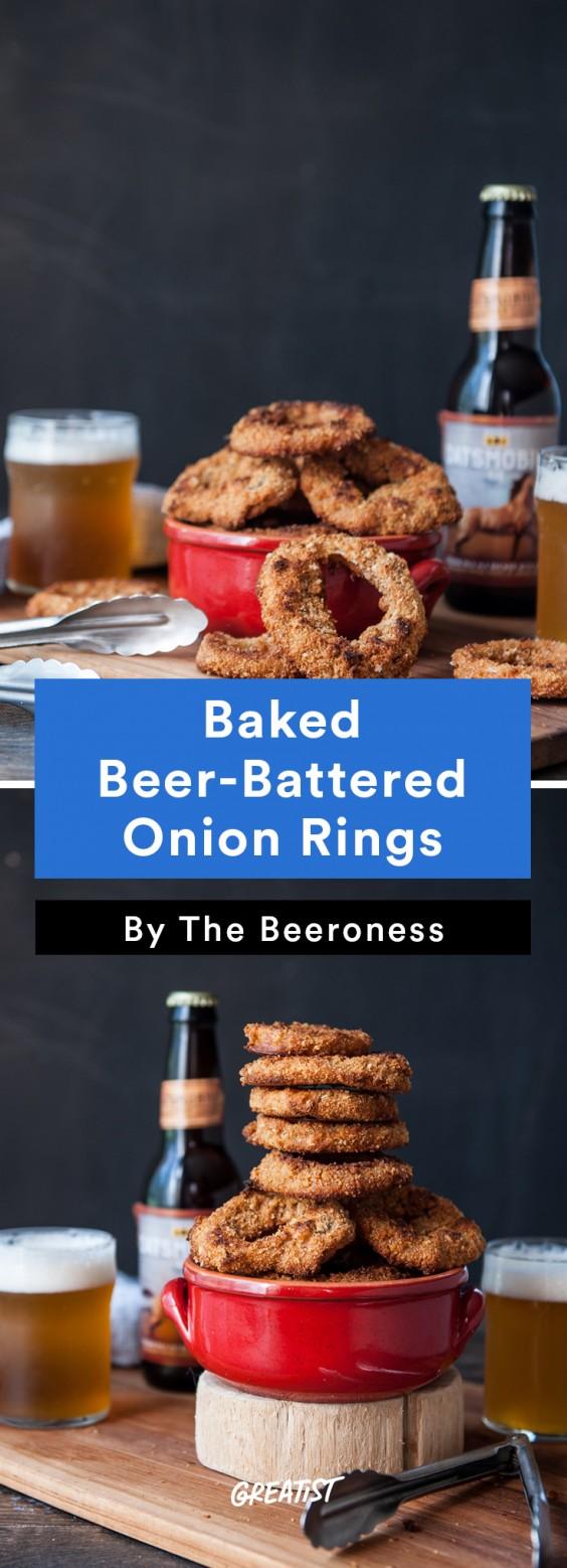 oktoberfest: Baked Beer-Battered Onion Rings