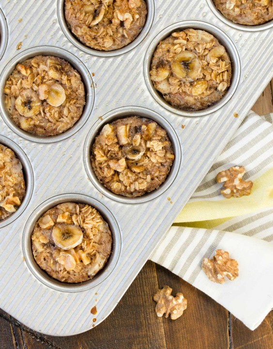 Banana Almond Cup Oatmeal
