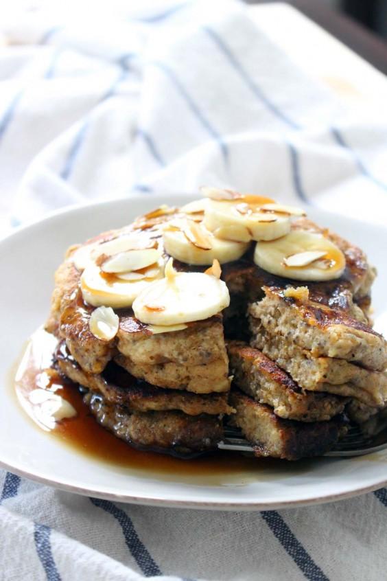 Banana and Chia Seed Pancakes