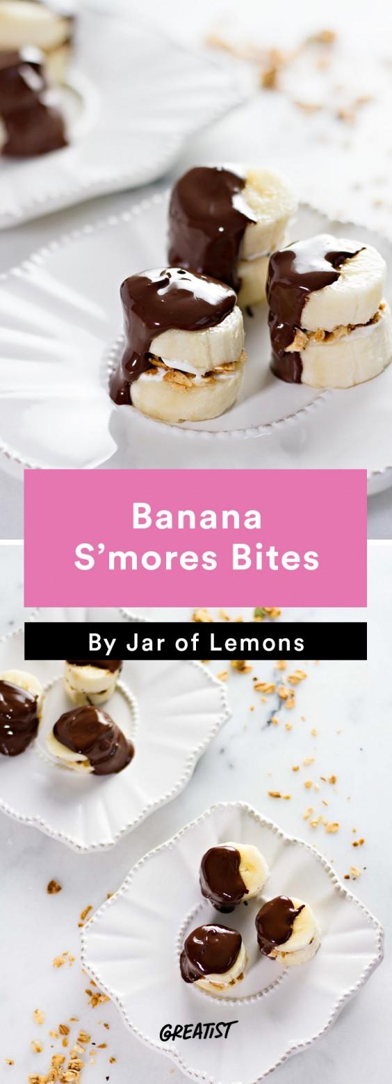 S'mores: Banana Bites