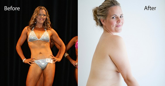 Taryn Brumfitt Before and After Photo