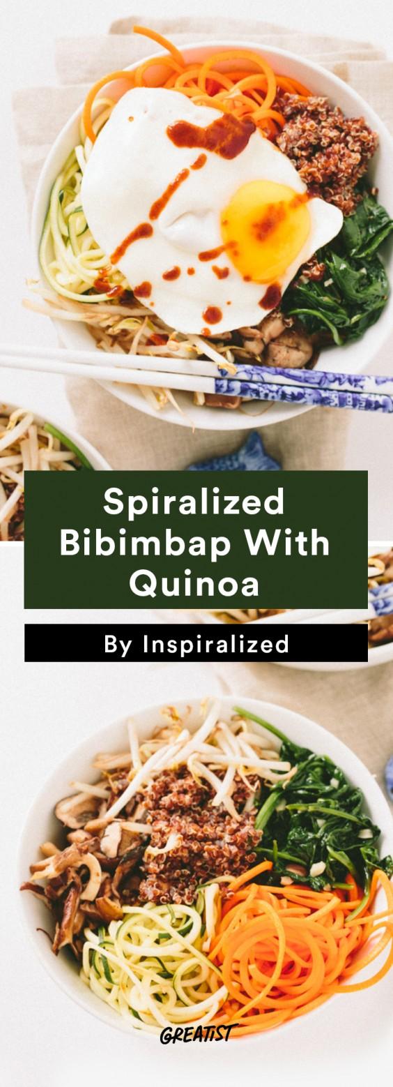 Inspiralized Roundup: Spiralized Vegetarian Bibimbap