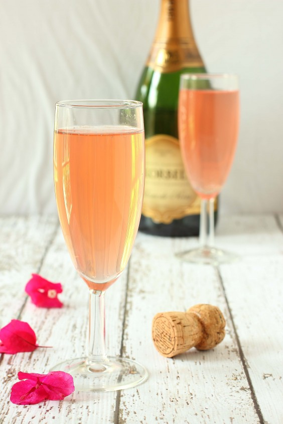 Blood Orange and Champagne Mimosas