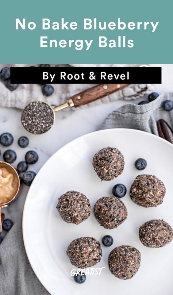 no bake blueberry energy balls