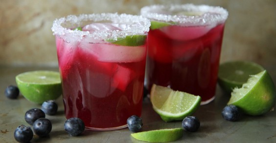 Blueberry-Lime Margaritas
