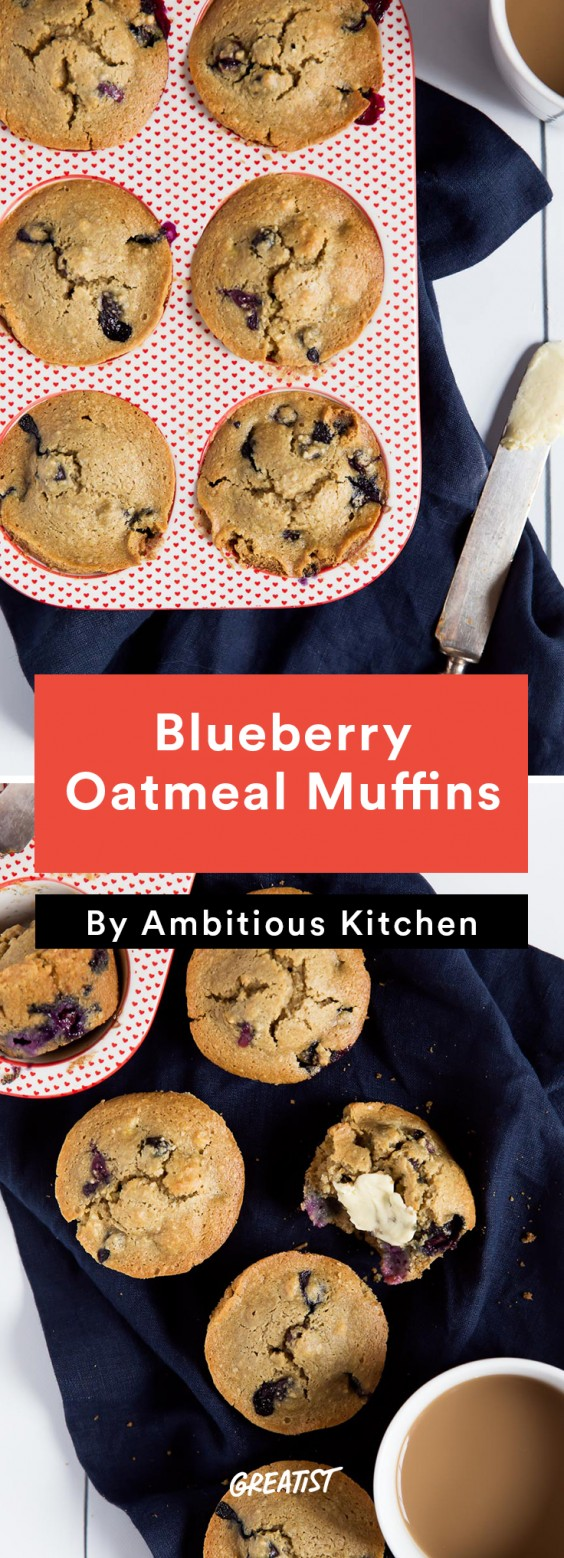 Ambitious Kitchen Roundup: Blueberry Oatmeal Muffins