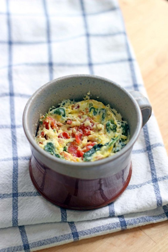 Mug Meals: Spinach and Cheddar Quiche