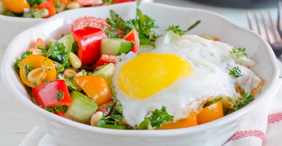 This breakfast salad will have you loving greens in the morning.