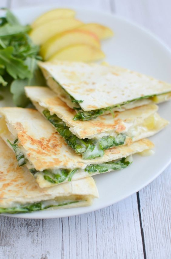Brie and Apple Quesadillas