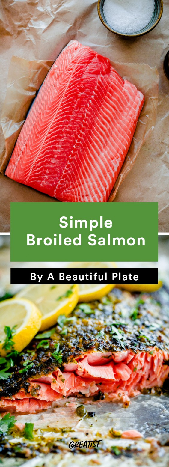 Salmon: Broiled