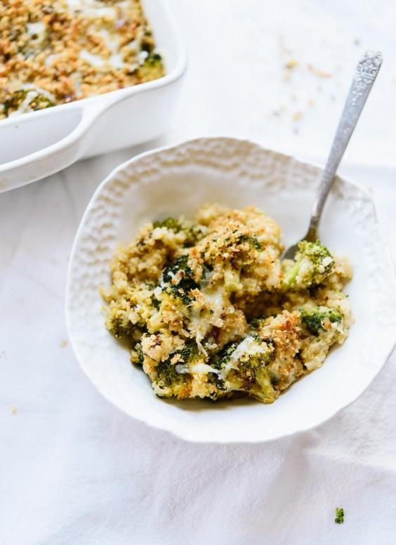 Broccoli, Cheddar & Quinoa Gratin