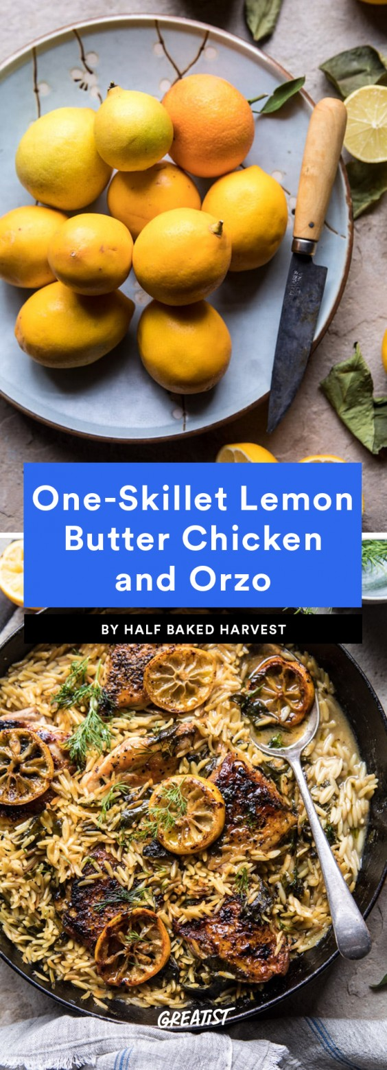 lemon chicken and orzo