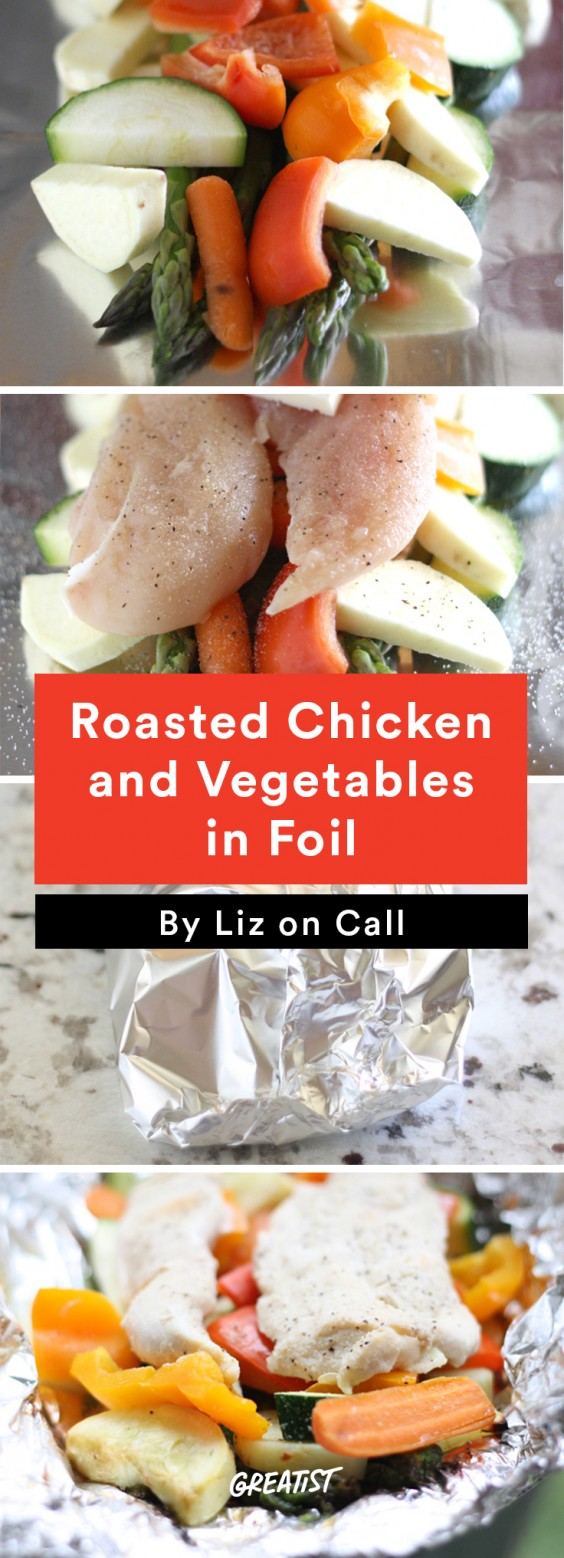 7 foil packet recipes that make cleanup a breeze greatist for Chicken and vegetables in foil packets recipe
