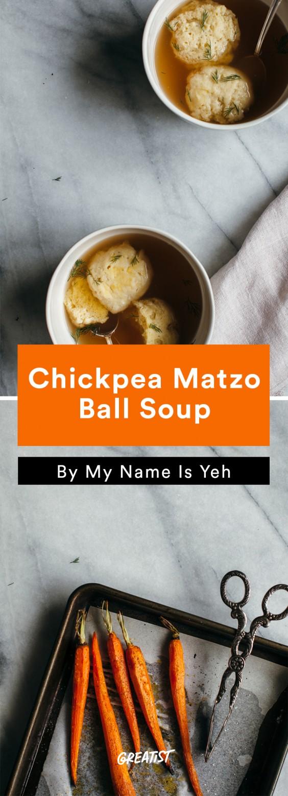 Chickpea Flour: Chickpea Matzo Ball Soup