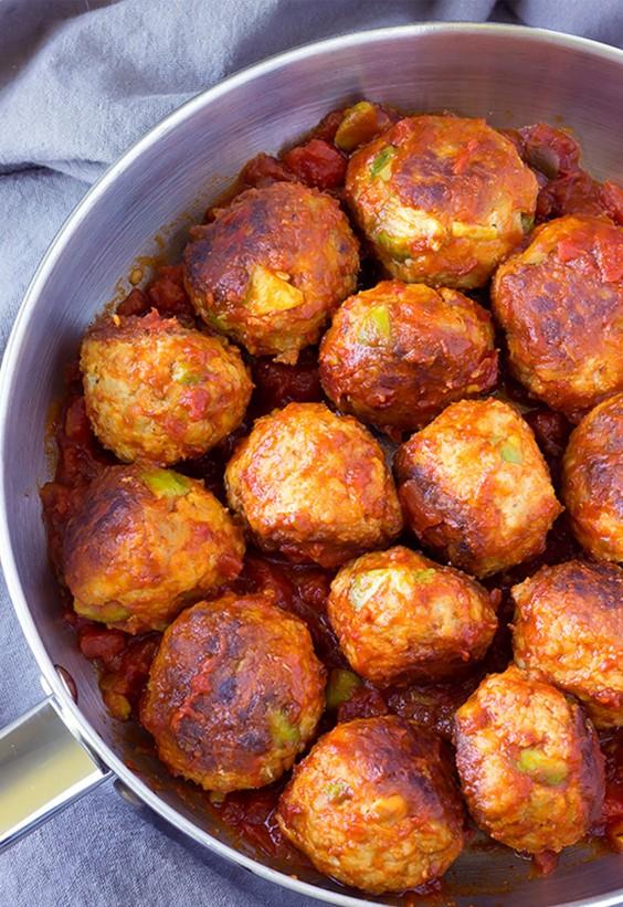 Pasta Sauce Recipes: Avocado Chicken Meatballs