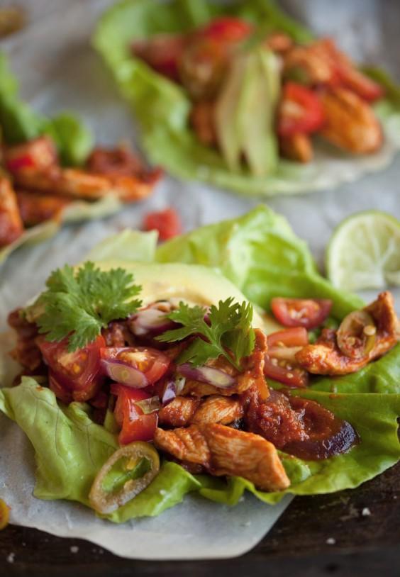 Chipotle Chicken Lettuce Wraps