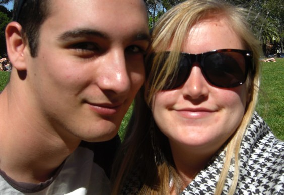 Christie and her boyfriend, taking a selfie several years ago