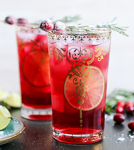 Sparkling Christmas Tree Cocktail