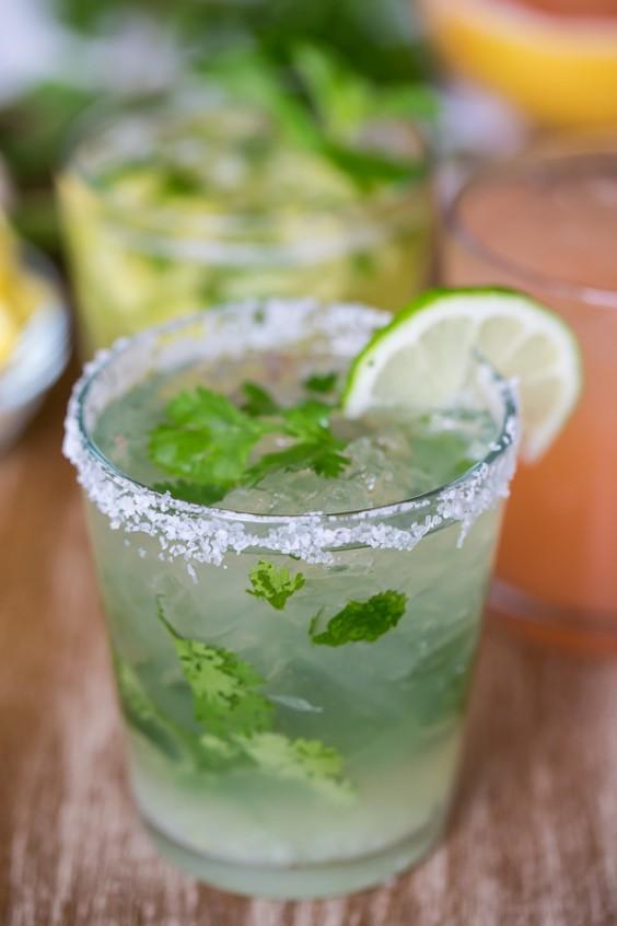 herb cocktails: Cilantro Margarita