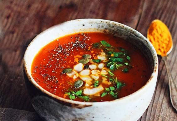 2. Turmeric Tomato Detox Soup