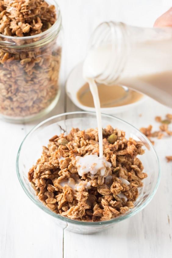 Tahini Uses: Maple Tahini Coconut Granola