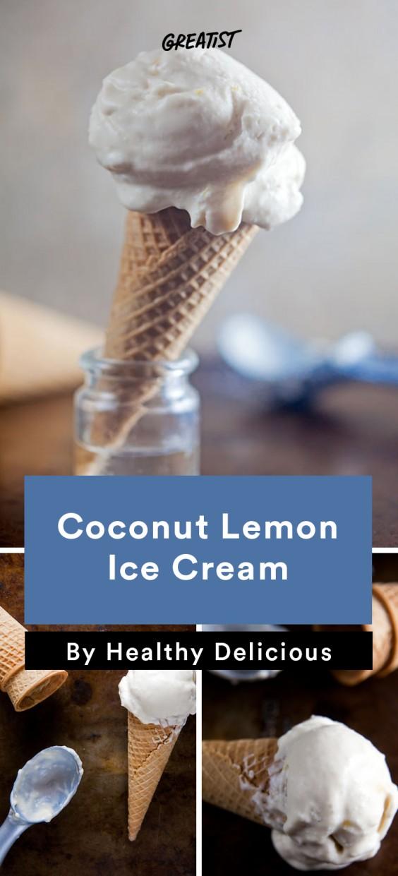 No-Churn Ice Cream: Coconut Lemon