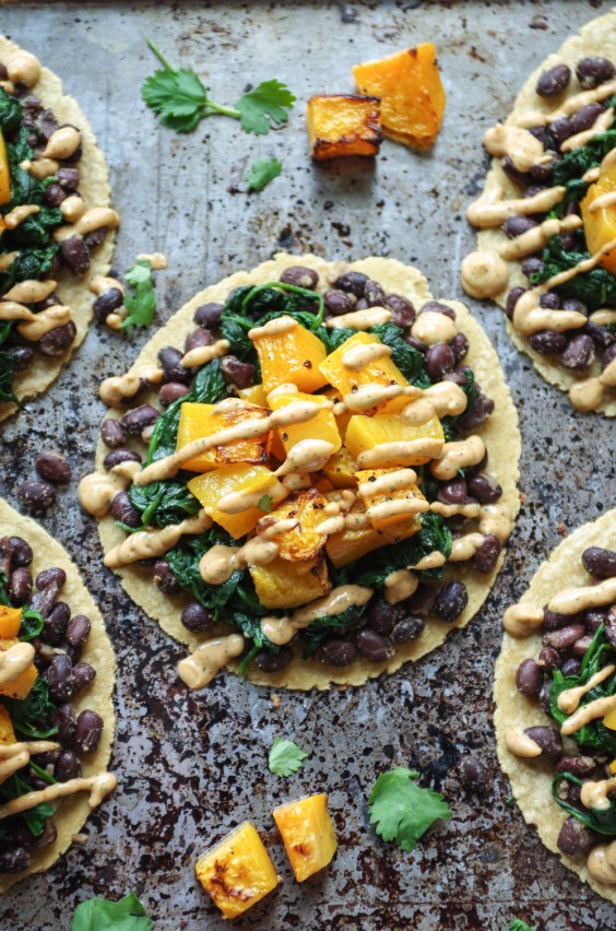 Healthy Tacos: Butternut Squash and Black Bean