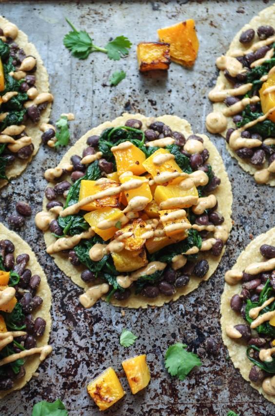 Healthy Tacos: Butternut Squash and Black Bean