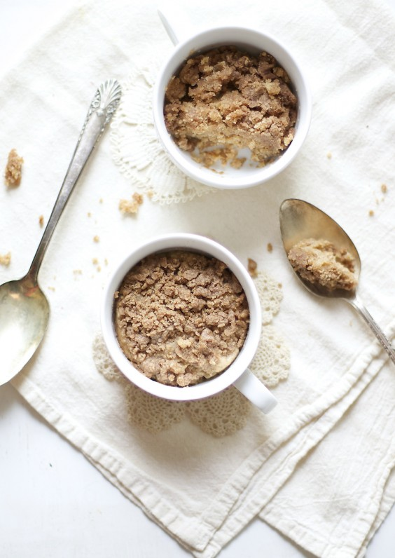 One Minute Coffee Cake in a Mug