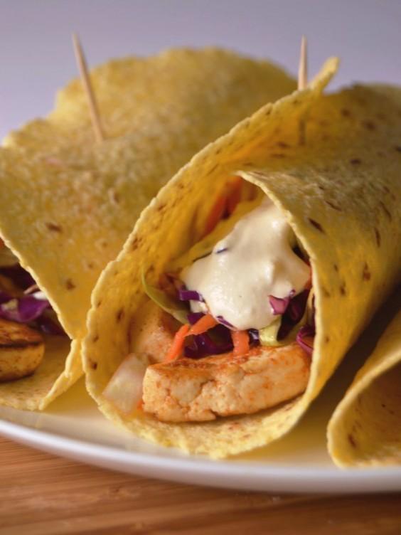 Healthy Tacos: Tofu With Cashew Cream
