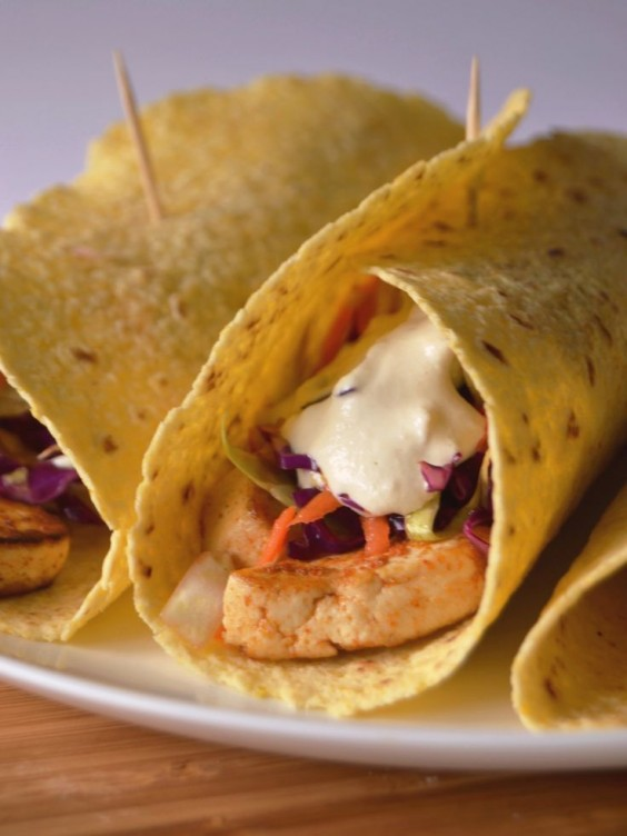 Healthy Tacos: Tofu With Cashew Cream