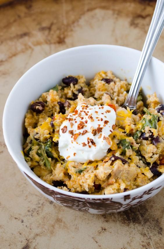 Healthy Casseroles: Mexican Chicken Quinoa