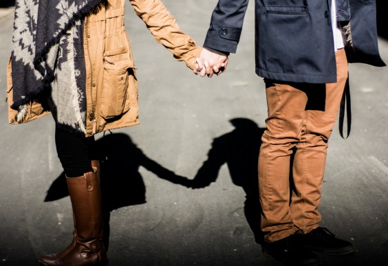 Dating Couple Holding Hands