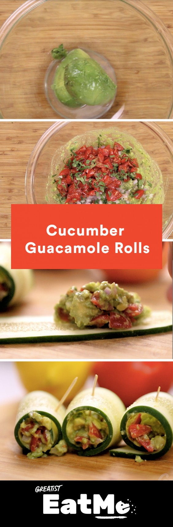 Eat Me Video: Cucumber Guac Rolls