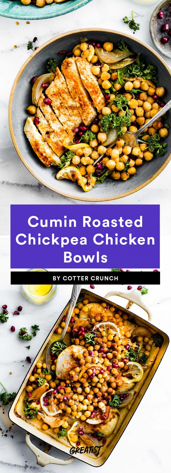 cumin chicken bowl