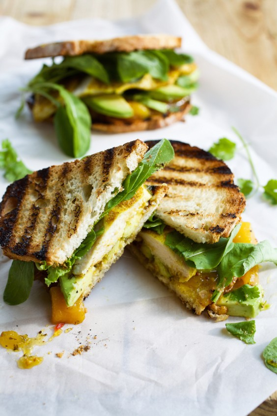 Curried Chicken and Avocado Sandwich