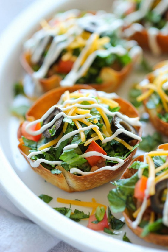 Muffin Tin: Taco Salad Cups