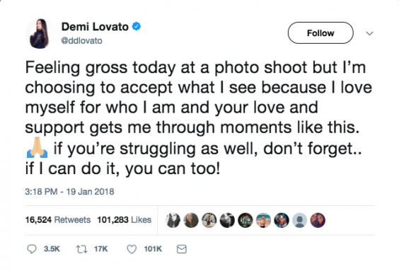 Demi Lovato Tweet