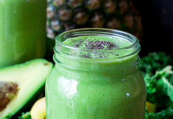 55. Pineapple Avocado Detox Smoothie