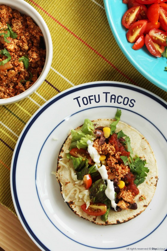Healthy Tacos: Spicy Tofu