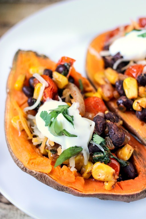 Dorm Food: Southwestern Stuffed Sweet Potato