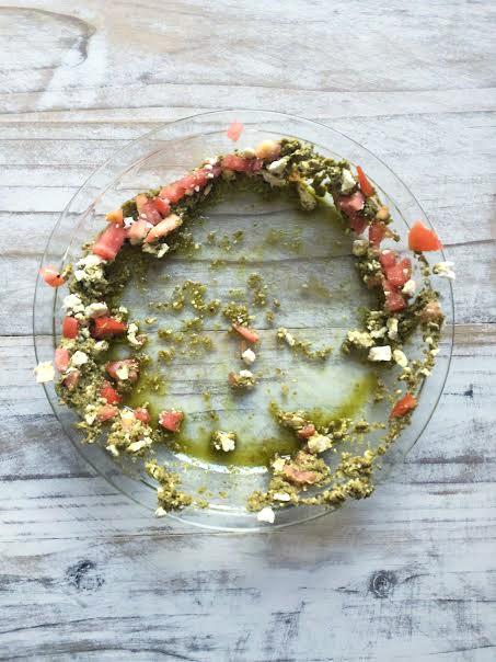 3-Ingredient Pesto Dip eaten